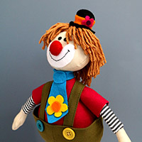 Clown Soft Toy